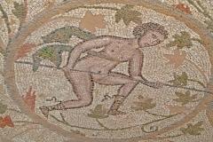 Une mosaïque d'une basilique de l'époque byzantine