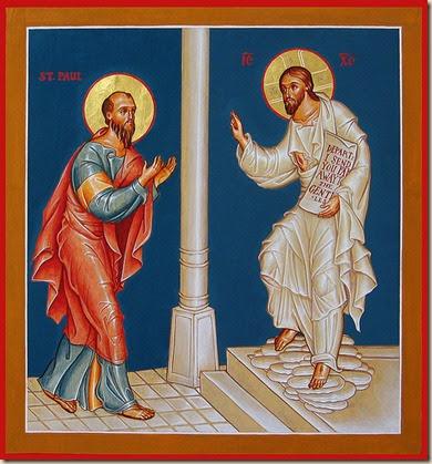 Jésus ressuscité envoie Saint Paul