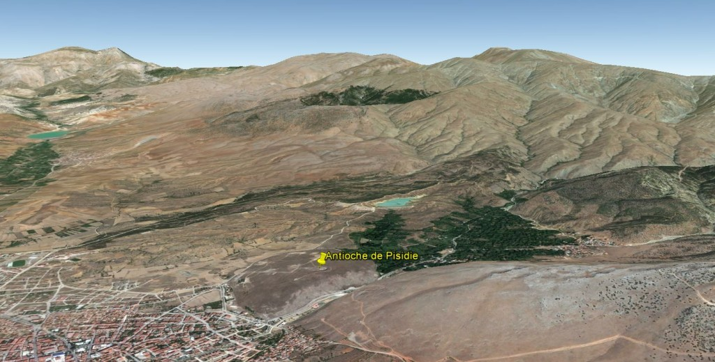 Vue de Google Earth, vers le nord