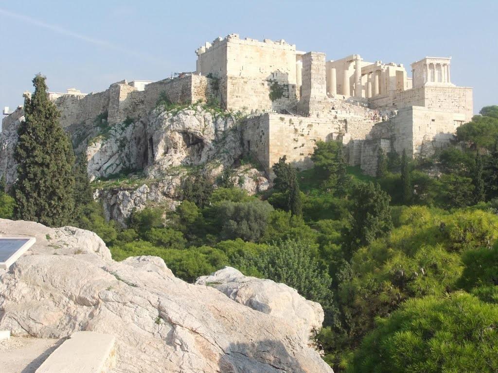 L'Acropole, vue de l'Aréopage.