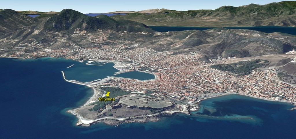 Mytilène via Google Earth