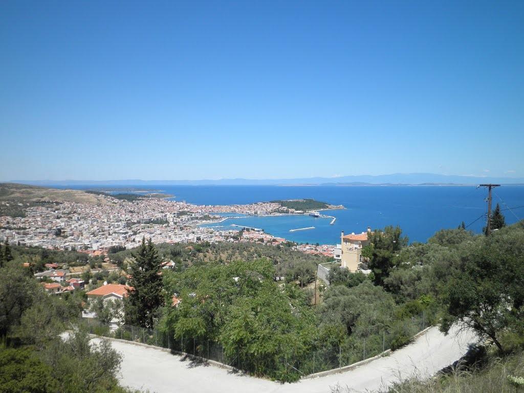 Vue des hauteurs de l'île de Lesbos