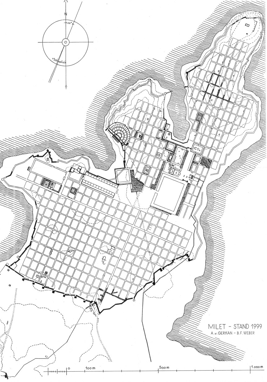 Plan de l'antique Milet
