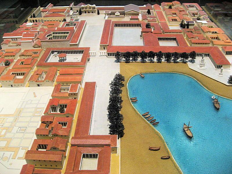 Maquette d'une partie de la ville