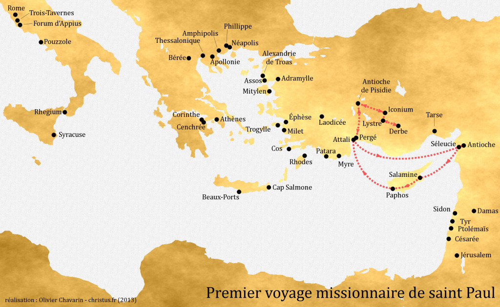 1er voyage missionnaire
