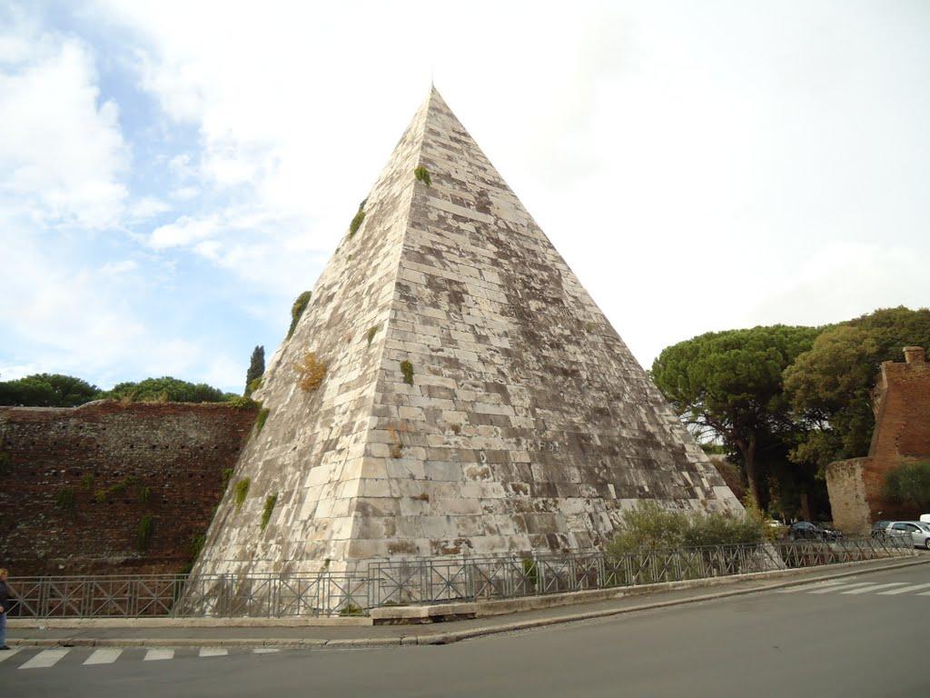 La pyramide de Cestius