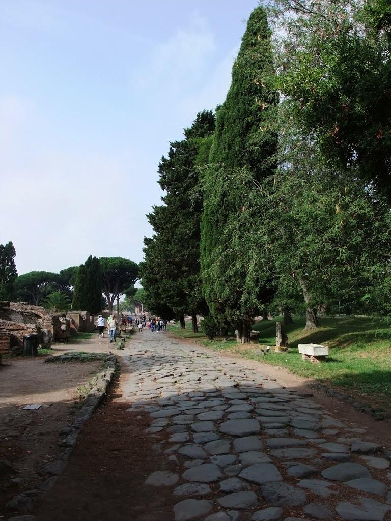La voie romaine d'Ostie