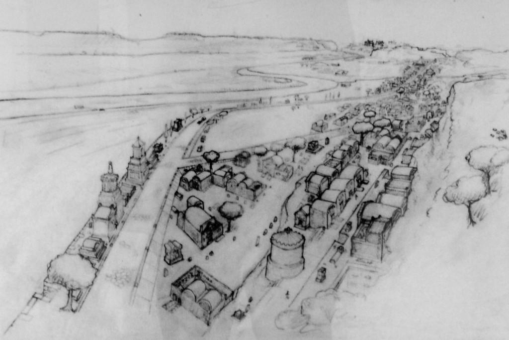 1. Reconstitution de la nécropole se trouvant le long de la voie d'Ostie.